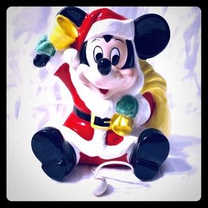 Ceramic Mickey Mouse Wall or Seated Music Box